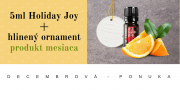 PRODUKT MESIACA Holiday Joy 5ml + hlinený ornament